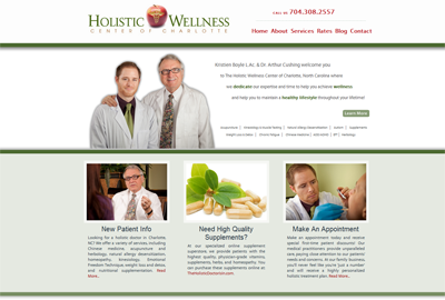 The Holistic Wellness Center of Charlotte - Developed by Web Symphonies