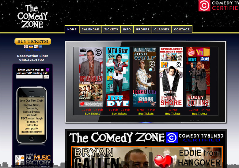 New Website Launch: Charlotte Comedy Zone