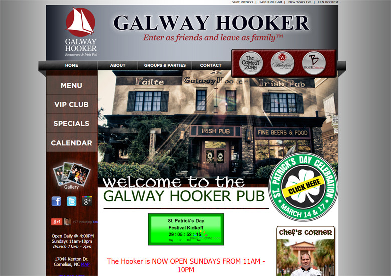 New Website Launched: Galway Hooker Pub