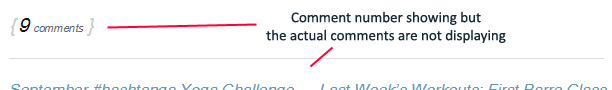 Comments not displaying in Thesis 1.8.4 after upgrading to Wordpress 4.0