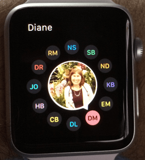 Apple iWatch Friends Favorite Screen
