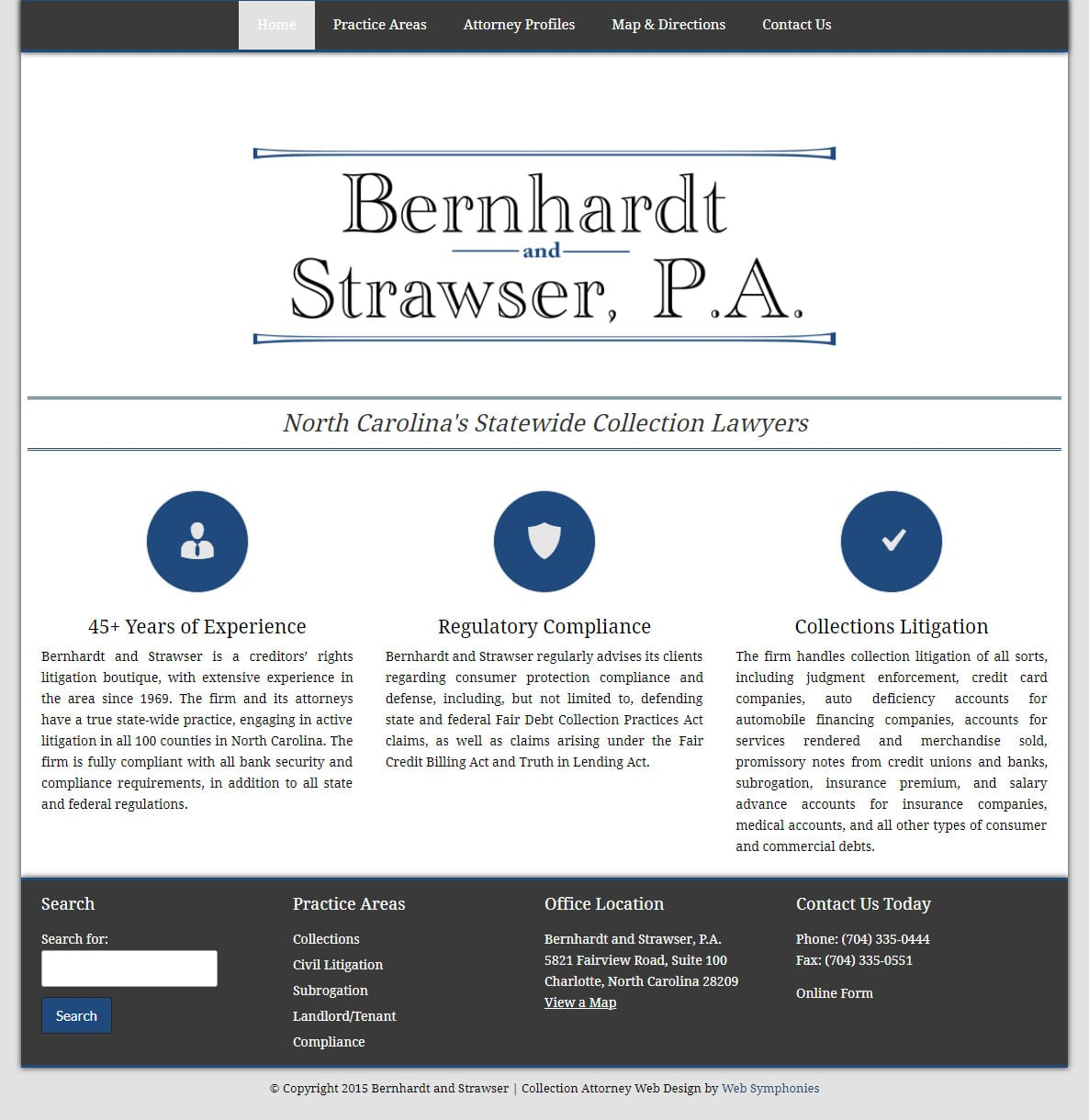 Law Firm Website Design Charlotte