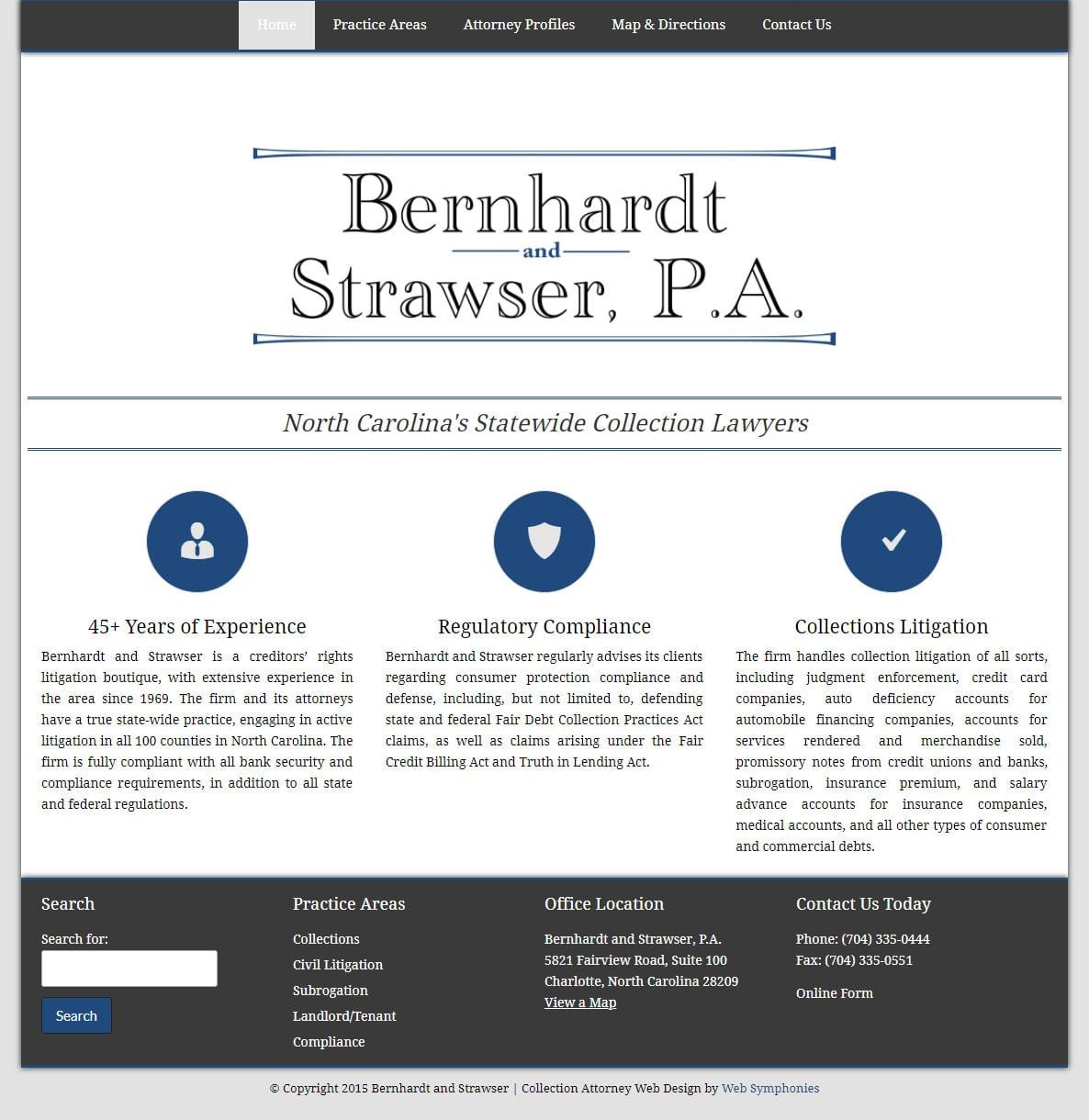 Law Firm Website Design Charlotte