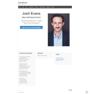 Josh Evans Website