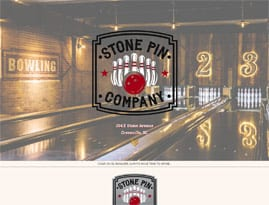 Bowling Alley Website Design